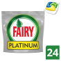 Fairy Platinum Lemon Κάψουλες Πλυντηρίου Πιάτων  24 Κάψουλες