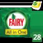 Fairy All In One Lemon Κάψουλες Πλυντηρίου Πιάτων 28 Κάψουλες