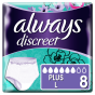 Always Discreet Εσώρουχα Για Την Ακράτεια Plus L 8τεμ