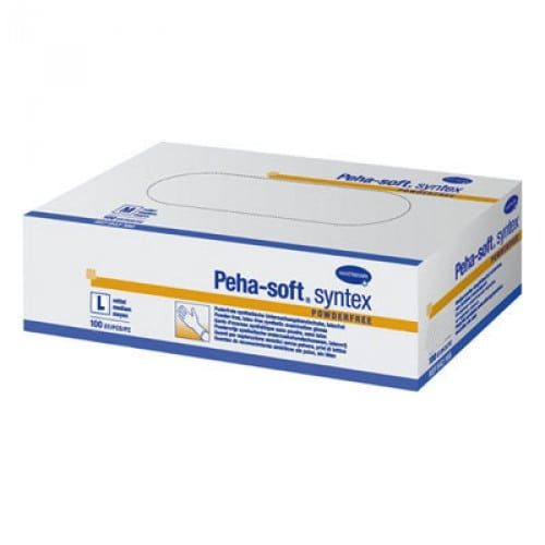 Peha-soft® Γάντια εξεταστικά μιας χρήσης syntex,  χωρίς πούδρα (Medium 7-8) 100τεμ