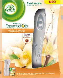 Airwick Freshmatic Συσκευή & Ανταλλακτικό Βανίλια+Ορχιδέα 250ml
