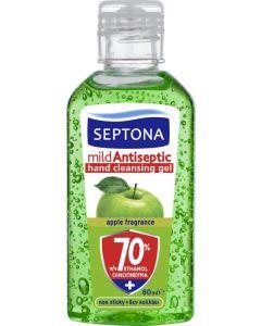 Αντισηπτική Λοσιόν Septona με Αιθυλική Αλκοόλη Και Άρωμα Πράσινο Μήλο 70%  (80ml)