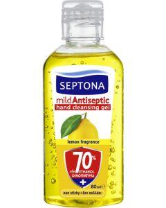 Αντισηπτική Λοσιόν Septona με Αιθυλική Αλκοόλη Και Άρωμα Λεμόνι 70%  (80ml)
