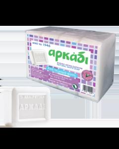 Αρκάδι Φυσικό Σαπούνι Σε Πλάκες Λευκό 4x150 gr