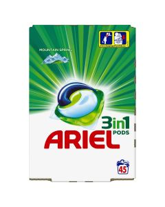 Ariel 3in1 PODS Mountain Spring Κάψουλες - 45 Κάψουλες