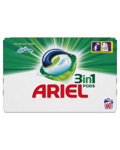 Ariel 3in1 PODS Mountain Spring Κάψουλες - 60 Κάψουλες