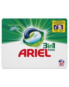 Ariel 3in1 PODS Mountain Spring Κάψουλες - 81 Κάψουλες