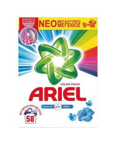 Ariel Touch of Lenor Color Απορρυπαντικό Σκόνη 3.77 kg - 58 Πλύσεις