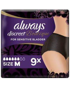 Always Discreet Boutique Εσώρουχα Για Την Ακράτεια Plus Μαύρο- M 9τεμ