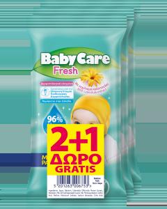 Μωρομάντηλα Babycare Fresh Mini Pack 2+1 Δώρο (3x12τεμ)