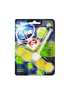 KLINEX WC BLOCK Power 5 Πράσινο Λεμόνι 55gr