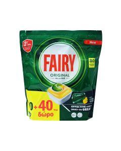 Fairy All In One Original Κάψουλες Πλυντηρίου Πιάτων 40+40 Δώρο (80 Σύνολο)