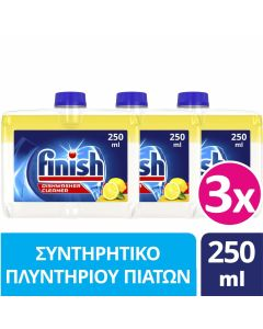 Finish Συντηρητικό Πλυντηρίου Πιάτων Λεμόνι 3x250ml