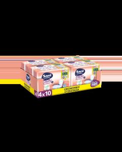 Σερβιέτες ακράτειας με βαμβάκι Sani Lady Maxi Plus No4+  Οικονομική Συσκευασία 40τεμ (4x10τεμ)