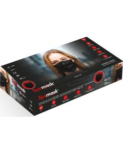 Χειρουργικές Μάσκες Προσώπου Synmask Τυπου ΙΙ  μιας χρήσης One-Size 20τμχ ΜΑΥΡΕΣ