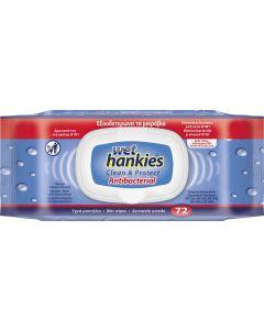 Αντιβακτηριδιακά μαντήλια Wet Hankies Antibacterial  72τεμ