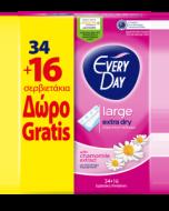 Σερβιετάκια EveryDay Extra Dry Large Οικονομική Συσκευασία 34τεμ+16τεμ Δώρο