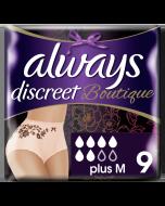 Always Discreet Boutique Εσώρουχα Για Την Ακράτεια Plus M Peach 9τεμ