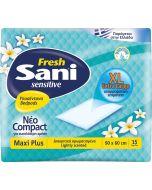 Υποσέντονα ακράτειας Sani Sensitive Fresh Maxi Plus15τμχ. (90x60cm)
